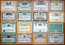 16x USA Stock Certificates - Mixed Lot of 16
