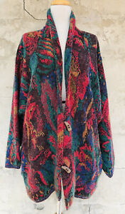 Vintage French Connection Colorful Cardigan Sweater Size Small Toggles Hong Kong