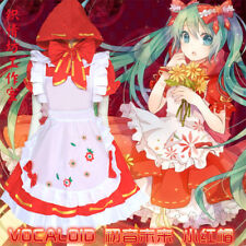 Japan Anime Hatsune Miku Vocaloid Little Red Riding Hood Cosplay Costume Dress