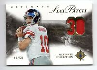 ELI MANNING NFL 2006 ULTIMATE COLLECTION STAT PATCHES #/50 (NEW YORK GIANTS)