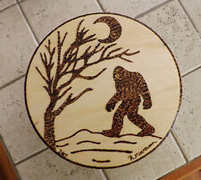 BIGFOOT Wood burning - Signed - Hand Made by Artist