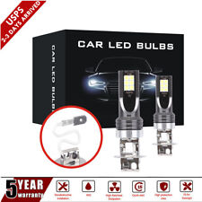 H3 LED Fog Light Bulbs Headlight Kit 1500W 6000K Driving Lamps DRL Replacement