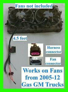 Dual Fan Harness 99-06 Sierra GM Chevy Silverado Electric Retrofit Relay ECU GMC