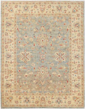 5X7 Hand-Knotted Farhan Carpet Traditional Grey Fine Wool Area Rug D44183