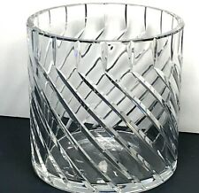 "5"" Baccarat Crystal Cylinder Vase Bucket Candle Vovite Holder"