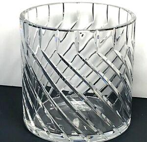"""5"""" Baccarat Crystal Cylinder Vase Bucket Candle Vovite Holder"""