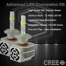 360 Degree Beam - New Gen CREE LED 6400LM High Beam Kit 6k 6000k - H7 (W)