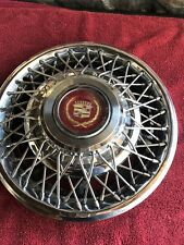 "1980""s Cadillac Wire Spoke Locking 15 inch Hubcap Wheel Cover"