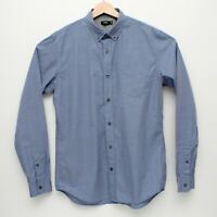 Vince. Mens Long Sleeve Button Front Shirt Medium Blue