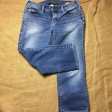 Silver Jeans AIKO Womens Capri Size 28 Distressed Classic Rise
