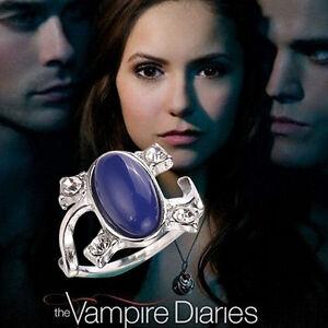 The Vampire Diaries, Elena Gilbert, Blue Lapis, Antique Silver, Daylight Ring