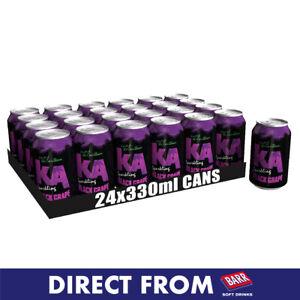 KA Sparkling Black Grape Fizzy Drink - 24x330ml Cans - Official Seller