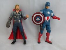 "Marvel Action Figures Thor and Captain America 6"" tall"