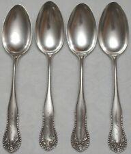 4 Gorham Sterling Silver Lancaster Large Oval Soup Spoons c1897