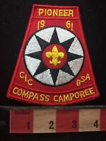 Vtg 1961 Pioneer Explorer Camporee Central Indiana Council Boy Scout Patch C76M
