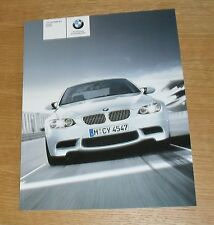 BMW M3 E90 Saloon & E92 Coupe Brochure 2007 - 4.0 V8