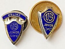 of C Shield Pins 2 Vintage Junior C