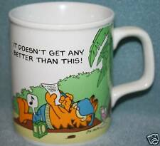"""Garfield """"Doesn't Get Any Better Than This!"""" Mug 1978"""