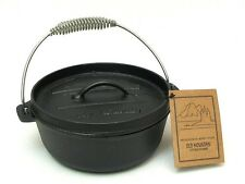 Old Mountain Cast Iron  Small 2 QT. Dutch Stove Top Flat Bottom   #10175