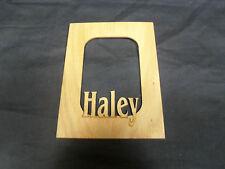"Laser Engraved Name Frame Mat for Picture ""Haley"""