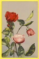 cpa Carte Chromo Fantaisie Florale Stylisée ROSES Edition AD