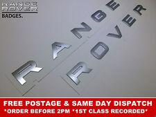 Range Rover Argento Lettera Stemma Lettering Ant. Cofano Posteriore Vogue Spor