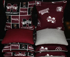 Cornhole Beanbags made w Mississippi State University Fabric 8 Aca Reg Bags