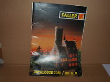 Catalogue Faller Models Ho & N 1981