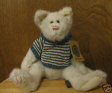 """Boyds Plush #93096 WHITEFURD FELINSKY, 11"""" QVC NEW From our Retail Store Jointed"""