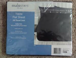 Mainstays New Black Flat Sheet