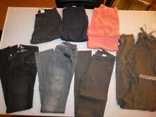 LOT de 7 vêtements Bas Pantalon + Jean + Short FILLE JUNIOR Taille 28 = 18 ANS