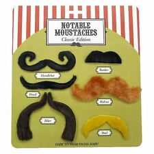 Notable Moustaches Classic Edition Fancy Dress Costume Party Accessory