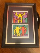 Beautiful 980's Keith Haring BEST BUDDIES 12x16 Giclee Pop Art Print Framed