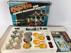 Motorized CAPSELA 500 Science Discovery System Vintage Building Toy - Incomplete