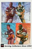 1996 Dynamic Rugby League Signature Gold ACETATE CARD TEAM SET--Brisbane (4)
