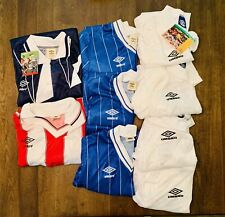 Vintage Umbro team Apparel Jerseys Mixed Lot Of 9 Jerseys Made In Usa