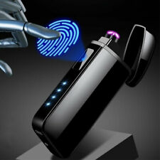 Outdoor Windproof Electric Lighter Touch Sensor Flameless Dual Arc USB Charging