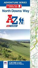A-Z North Downs Way Adventure Atlas (Paperback, OS 250000 mapping)