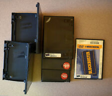 BLOCKBUSTER VIDEO EMPTY DVD STORAGE CASE LOT - SIX TOTAL - USED, NO DISCS