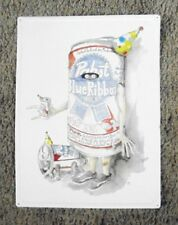 """Pabst Blue Ribbon Halloween Beer Can Costume Beer Sign 18"""" x 24""""  Mancave PBR"""