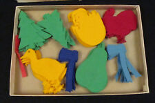 1958 Jacrconda Instructo Flannelboard Cut-Outs #25 Holiday Set Educ Activity