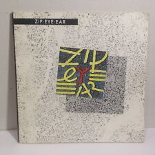 """ZIP EYE EAR - 1986 EXPERIMENTAL ELECTRONIC SYNTH NOISE ART 7"""" WITH BOOK CONCRETE"""