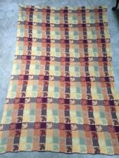 71 X 49 Fall tablecloth fall leaves oranges reds yellows gold metallic thread