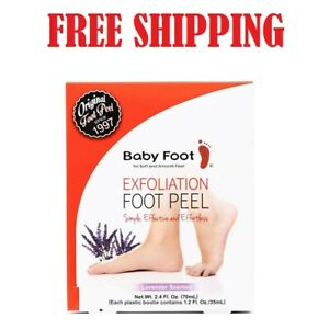 NEW Baby Foot Original Exfoliation Foot Peel - Lavender Scented - Free Shipping