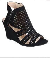 New women strappy gladiator wedge   plantform heel zipper sandals open toe shoes