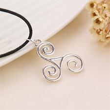 Silver Triskele Triskelion Allison Argent Teen Wolf Pendant Necklace