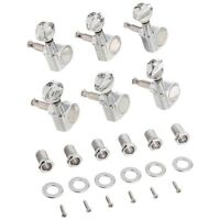 6pcs 6R Guitar Tuning Pegs Tuners Machine Heads for Fender Replacement X4Z2