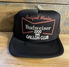 VINTAGE Budweiser trucker hat 2000 Gallon Certified Member deadstock funny Hat