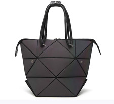 Geometric Luminous Purse Tote Bag Holographic Backpack Top-Handle Shoulder Bag