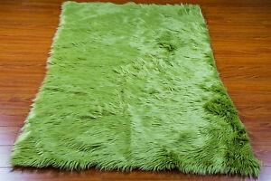 Faux fur area rug Shaggy Rug rectangle shape plush Sheepskin Bedroom living room